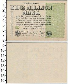 Изображение Банкноты Веймарская республика 1000000 марок 1923  UNC-