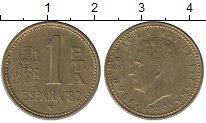 Изображение Дешевые монеты Испания 1 песета 1980 Латунь-сталь XF- ЧМ по футболу