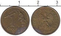 Изображение Дешевые монеты Польша 1 грош 2004 Латунь VF