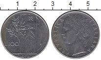 Изображение Дешевые монеты Европа Италия 100 лир 1979 нержавеющая сталь XF