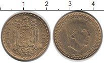 Изображение Дешевые монеты Европа Испания 1 песета 1966 Латунь-сталь XF