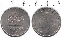 Изображение Дешевые монеты Норвегия 1 крона 1981 Медно-никель XF