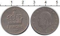 Изображение Дешевые монеты Европа Норвегия 1 крона 1977 Медно-никель XF