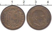 Изображение Дешевые монеты Испания 1 песета 1963 Латунь VF+