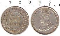Изображение Монеты Стрейтс-Сеттльмент 50 центов 1921 Серебро XF+
