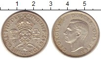 Изображение Монеты Великобритания 2 шиллинга 1942 Медно-никель XF Георг VI.