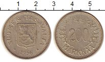 Изображение Монеты Финляндия 200 марок 1956 Серебро XF Н