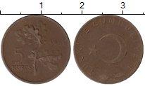 Изображение Монеты Азия Турция 5 куруш 1961 Бронза XF