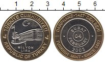 Изображение Монеты Турция 1000000 лир 2003 Биметалл UNC- Ежедневная  монета.