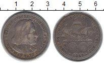 Изображение Монеты Северная Америка США 1/2 доллара 1893 Серебро XF-