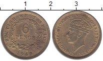 Изображение Монеты Западная Африка 6 пенсов 1940 Латунь XF