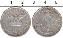 Изображение Монеты Азия Филиппины 50 сентаво 1921 Серебро XF