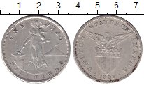 Изображение Монеты Азия Филиппины 1 песо 1907 Серебро XF-