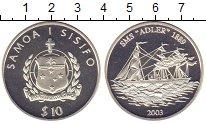 """Изображение Монеты Самоа 10 долларов 2003 Серебро Proof `СМС """"Адлер&quo"""