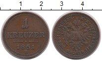 Изображение Монеты Европа Австрия 1 крейцер 1851 Медь XF