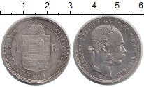 Изображение Монеты Венгрия 1 форинт 1881 Серебро XF