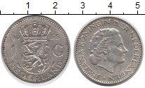 Изображение Монеты Европа Нидерланды 1 гульден 1955 Серебро XF