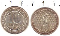 Изображение Монеты Франция 10 франков 1987 Медно-никель XF 1000 - летие  Капети