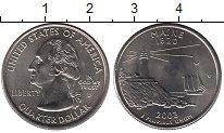 Изображение Мелочь США 1/4 доллара 2003 Медно-никель UNC- D. Мэн.