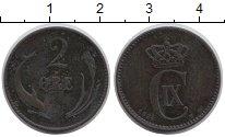 Изображение Монеты Европа Дания 2 эре 1874 Бронза VF