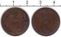 Изображение Монеты Дания 2 эре 1886 Бронза XF-