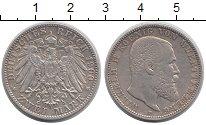 Изображение Монеты Вюртемберг 2 марки 1900 Серебро XF