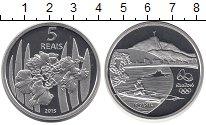 Изображение Монеты Бразилия 5 реалов 2015 Серебро Proof Олимпиада в Рио 2016
