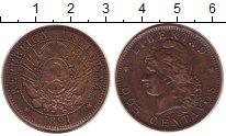 Изображение Монеты Аргентина 2 сентаво 1891 Бронза XF