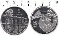 Изображение Монеты Бразилия 5 реалов 2014 Серебро Proof Олимпиада в Рио 2016