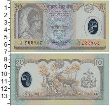 Изображение Банкноты Непал 10 рупий 2002  UNC