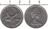 Изображение Монеты Северная Америка Канада 25 центов 1974 Медно-никель XF