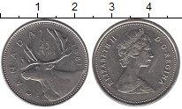 Изображение Монеты Северная Америка Канада 25 центов 1981 Медно-никель XF