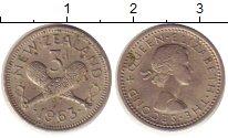 Изображение Монеты Новая Зеландия 3 пенса 1963 Медно-никель XF