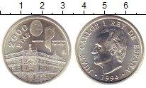 Изображение Монеты Испания 2000 песет 1994 Серебро UNC Ассамблея  Всемирног