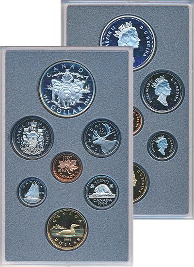 Изображение Подарочные монеты Северная Америка Канада Набор монет 1994 года 1994  Proof