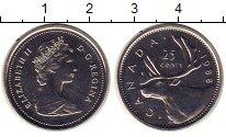 Изображение Монеты Канада 25 центов 1988 Медно-никель UNC