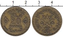 Изображение Монеты Африка Марокко 20 франков 1951 Латунь XF