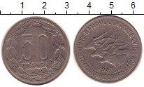 Изображение Монеты Центральная Африка 50 франков 1963 Медно-никель XF