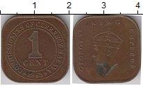 Изображение Монеты Малайя 1 цент 1943 Бронза XF