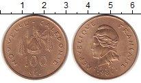 Изображение Мелочь Франция Новая Каледония 100 франков 1984 Латунь XF