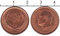 Изображение Монеты Самоа 2 сене 2000 Бронза UNC-