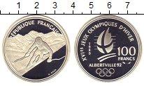 Изображение Монеты Франция 100 франков 1989 Серебро Proof Олимпиада 92. Альбер