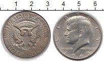 Изображение Монеты США 1/2 доллара 1968 Медно-никель XF