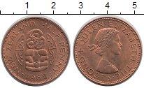 Изображение Мелочь Новая Зеландия 1/2 пенни 1965 Бронза UNC-
