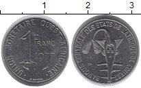 Изображение Монеты Западная Африка 1 франк 1977 Сталь XF Золотая  гиря  народ