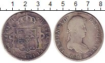 Изображение Монеты Южная Америка Боливия 8 реалов 1816 Серебро XF-