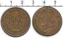Изображение Монеты Французская Западная Африка 25 франков 1956 Латунь XF