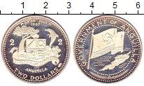 Изображение Монеты Северная Америка Ангилия 2 доллара 1970 Серебро Proof-