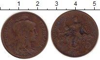 Изображение Монеты Франция 5 сантим 1918 Бронза XF