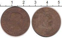 Изображение Монеты Франция 5 сантим 1857 Бронза XF-